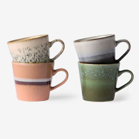 70s ceramics: cappuccino mugs (set of 4) - afbeelding 1