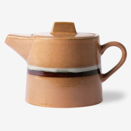 70s ceramics: tea pot, stream - afbeelding 1